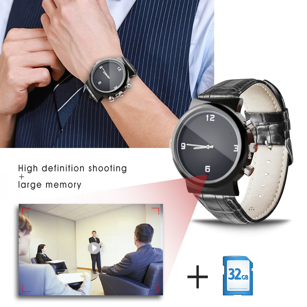 New Design A9 waterproof Night Vision 380mAh invisible Battery Powered Mini 1080P camera  spy watch camcorder wholesale