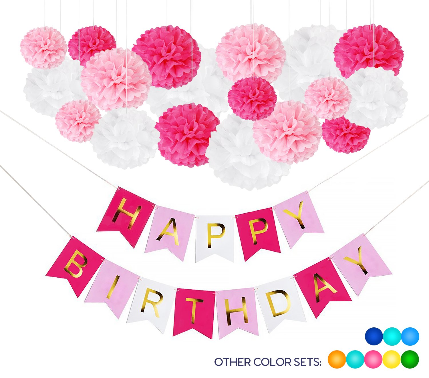 Get Quotations DIY Pink Birthday Party Decorations