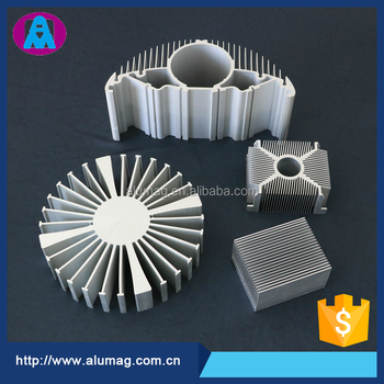 China supplier 6063 T5 semicircle shape extruded flexible aluminum heat sink
