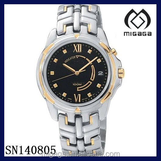 Fashion IPS IPG two tone plating steel watch*MENS KINETIC 2 TONE ST STEEL WATCH