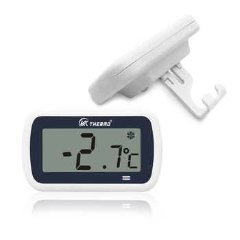 Digital household LCD display fridge/freezer thermometer with alarm high & low temperature setting