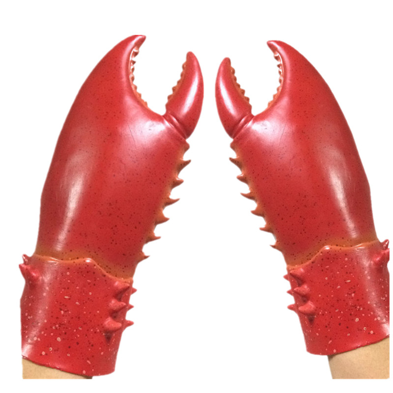 latex lobster claw hands gloves costume accessory halloween fancy