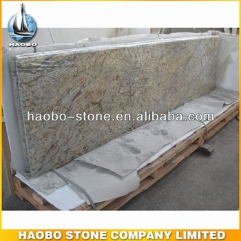 Haobo Sell Polished New Diamond Flower Kitchen Granite Countertops