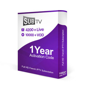 Full HD French IPTV Abonnement SUBTV Code 1 Year Subscription 4200+ IPTV Europe Arabic French Germany Channels for Smart TV Box
