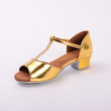 Gold High Quality Salsa Children Irish Ballroom Latin Dance Shoes Girls