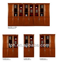 8 doors wooden office furniture filing storage cabinet with glass doors(FOHK-A50-2)