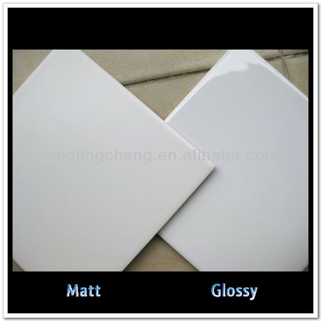 manufacturer sale matt and glossy white wall tile 15x15