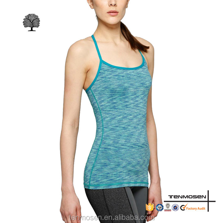 Latest design womens compression dri fit blank tank tops heather yoga tops woman