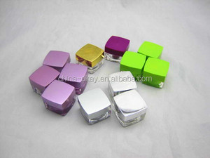 eye shadow jar packaging skin care small plastic containers/glitter colorful jars 5g cosmetic