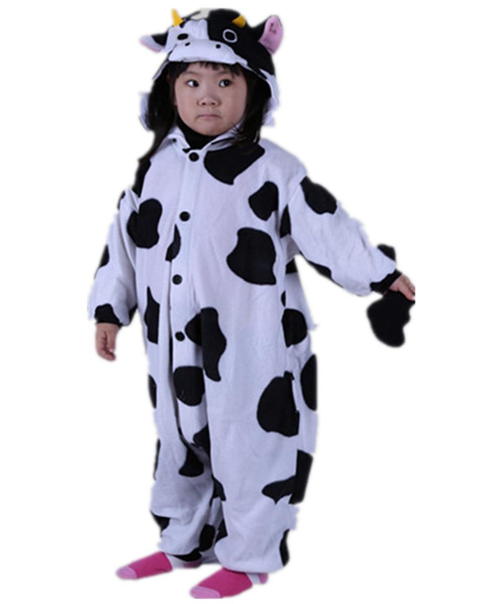 Buy Unisex Kids Black White Cow Onesies Costumes Famous Cartoon ...