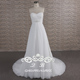 Boho Semi sweetheart neckline wedding gown Pleats A line huiyuan wedding dress