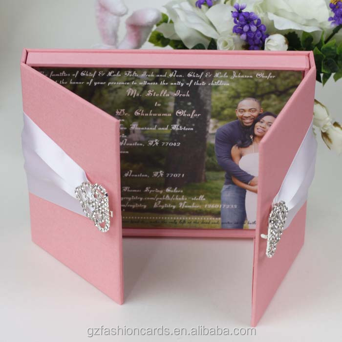 Unique Wedding Invitations In A Box: 2015 Luxury Unique Wedding Invitation Box With Brooch
