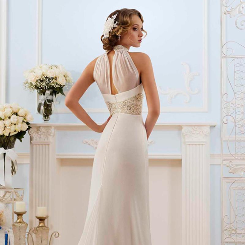 Greek Style Wedding Dresses: Grecian High Neck Wedding Dress_Wedding Dresses_dressesss