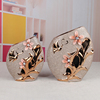 new arrival gold plated with sand ceramic vase with shell
