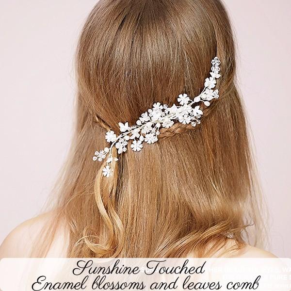 Gold Silber Handgemachte Hochzeit Emaille Blumen Hochzeit Dekoration