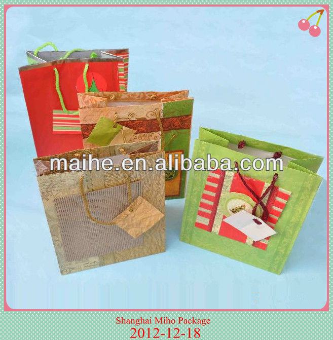 Lovely paper gift bag with greeting card