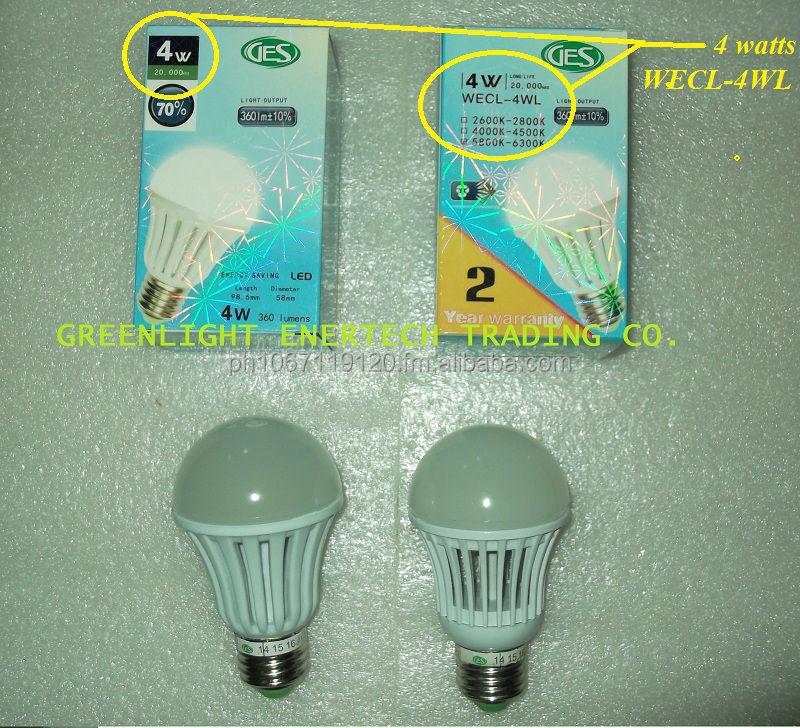Ges Led Bulb 4 Watts