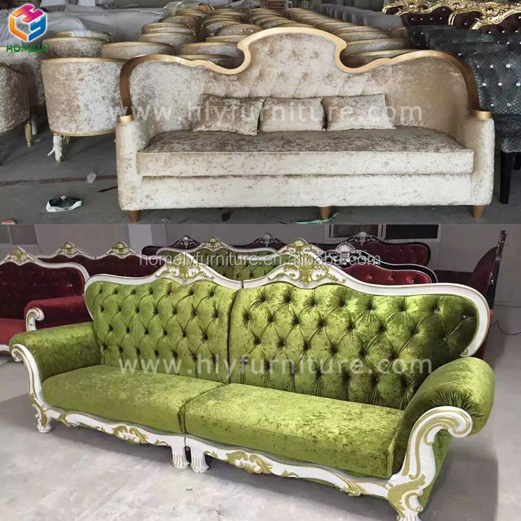 Top Quality Living Room Events Wedding Hotel salonNail beauty shop Salon solid wood Leather velvet Latest Design Hot Pink Sofa
