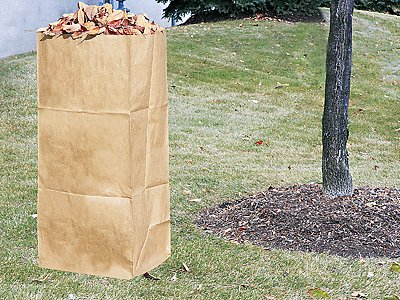 Paper Lawn Leaf Bag 16 X 12 35 30 Gallon