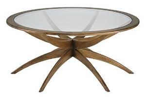 Currey & Company Coffee Table CURREY & COMPANY ELLEN Mid-Century Modern Weathered Wal