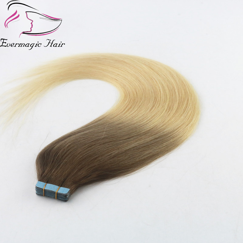 Balayage Color 8613 Tape In Remy Hair Extensions Virgin Human Hair