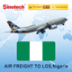 Air Freight Forwarder Air Cargo From China to LOS Lagos Nigeria
