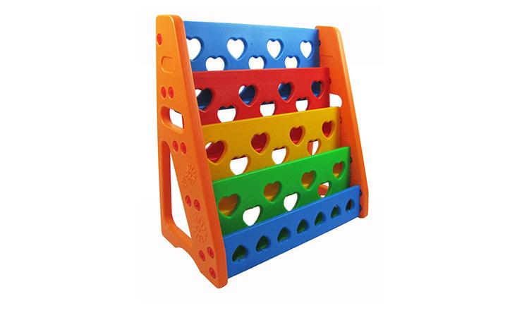 KRX-2703 modern portable bookshelf movable kids plastic bookshelf