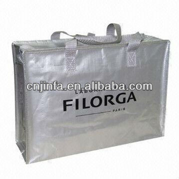 non woven eco bag for shopping or travel carry with zipper