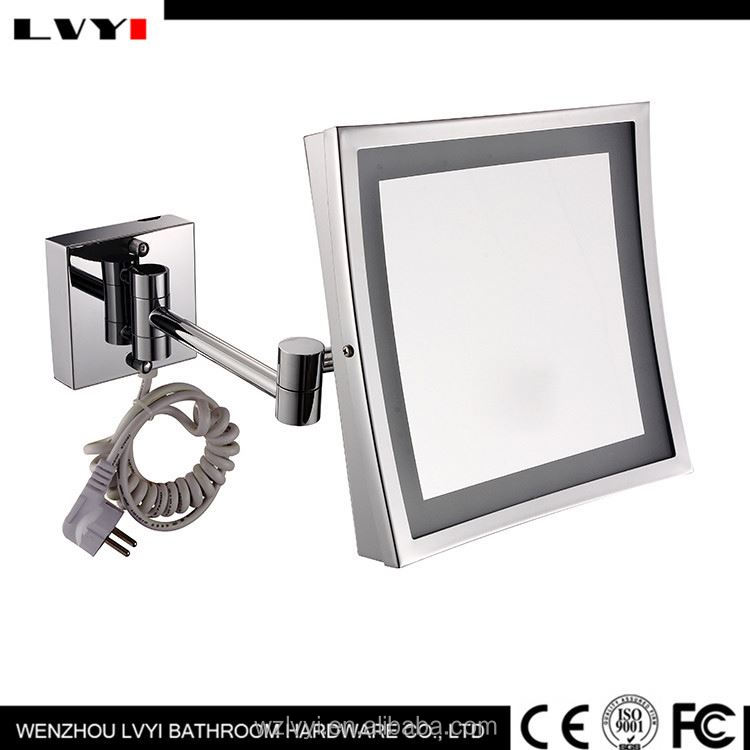 New coming different types lightness foldable girl cosmetic led framed mirror