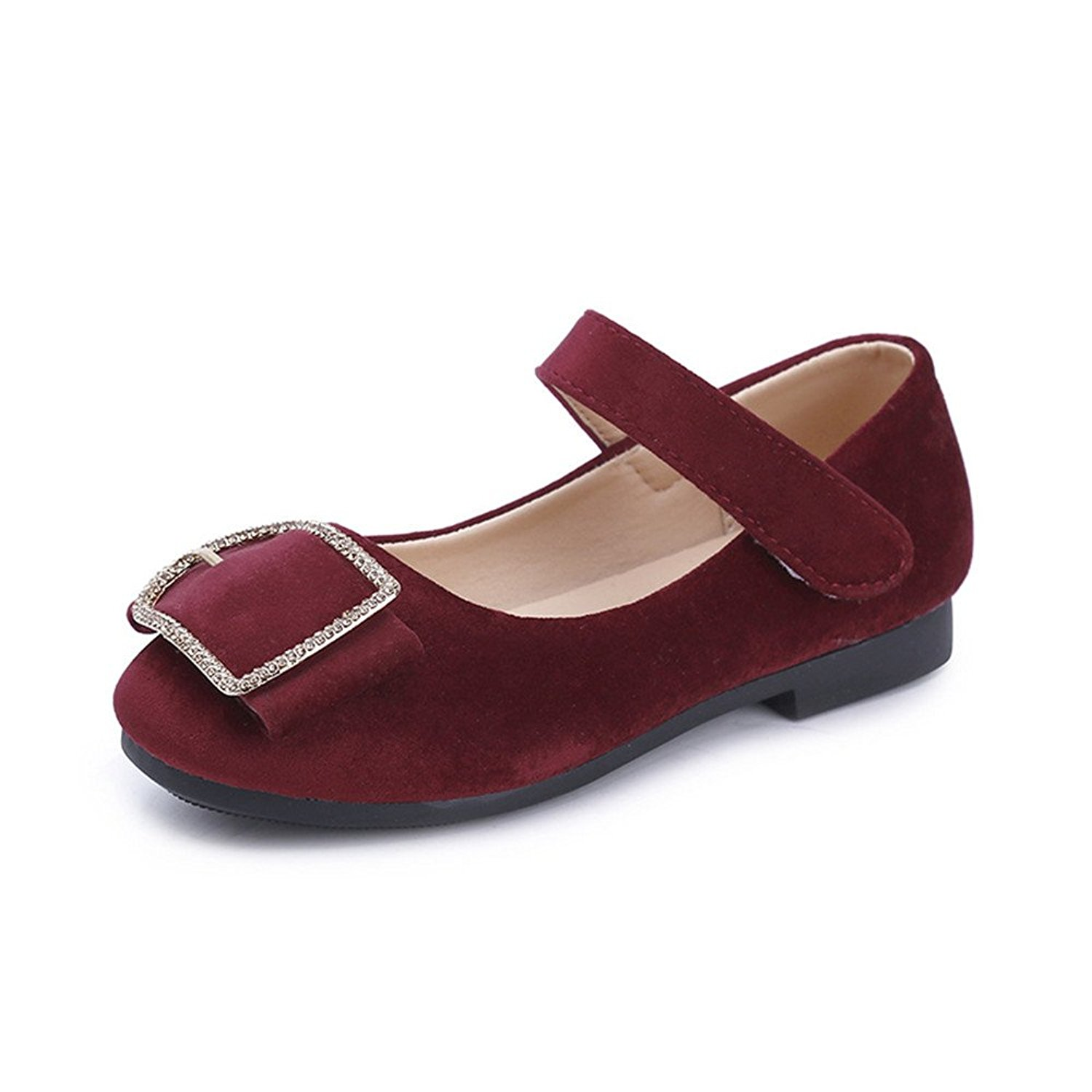 Kids Flats For Girls Shoes Sweet Girl Flower Leather Flat Shoes Princess Shoes For Children Flat Shoes