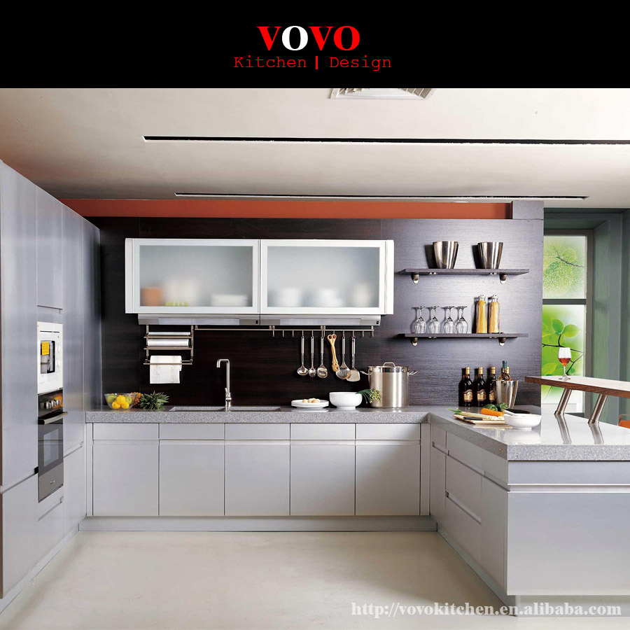 Finger Pull High Glossy White Lacquer Kitchen Cabinet, View white kitchen  cabinet, VOVO Product Details from VOVO Building Material (Shenzhen) Co.,  ...