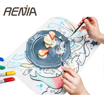 RENJIA silicon baby plate and placemat bowl mat food serving plate