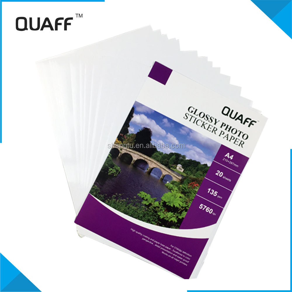 Quaff Glossy Photo Sticker Paper A4 - Buy Glossy Photo Paper,A4 Glossy  Photo Paper,Glossy Photo Sticker Paper Product on Alibaba com