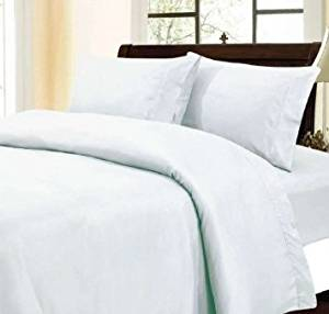 Black Friday & Cyber Monday Special Deals - #1 Hotel Collection 400 Thread Count 100% Egyptian Cotton WRINKLE AND FADE RESISTANT 4PC Queen sheet Set - Solid White