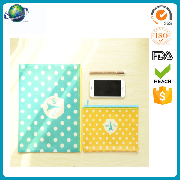 Companies manufacture pvc mesh document bag with zipper