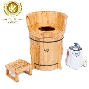Hot Sale Portable Sauna Wooden Foot Spa Tub Solid Wood