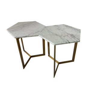 Newstar high quality hexagon carrara white marble table tops, home furniture 48 marble table top