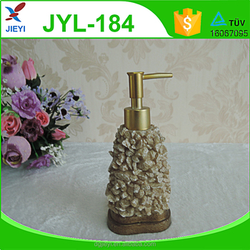 Fashionable Stone Design Decorative Lotion Pump Bottle Liquid Soap Dispenser