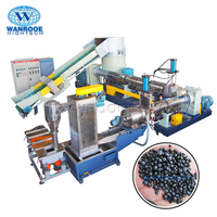 Automatic Two Stage Polystar LD PS PP PE ABS Film LDPE Granulator Plastic Recycling Machine