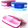 2 tier Original Bento Box with layer adjustable, microwaveable&dishwasher safe