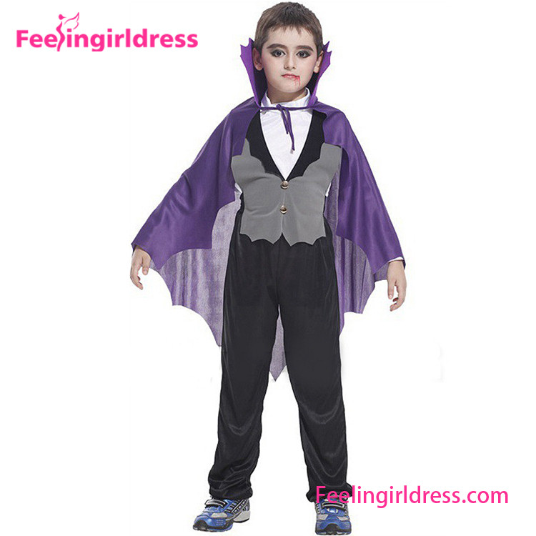 Cheap Price Vampire Outfit Cosplay Costume Kids Carnival Costumes