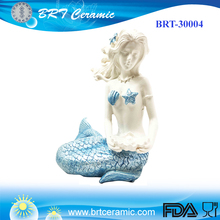 Personalizzato Pensiero mermaid modello statue <span class=keywords><strong>figurine</strong></span>