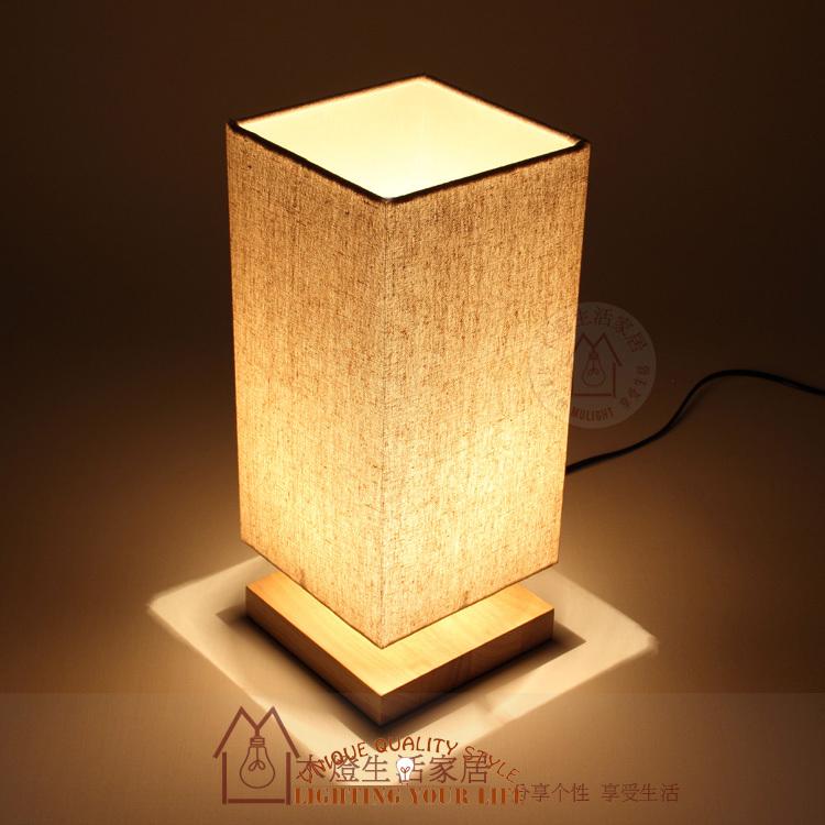 retro holz tischlampe schlafzimmer bett lampe beleuchtung. Black Bedroom Furniture Sets. Home Design Ideas