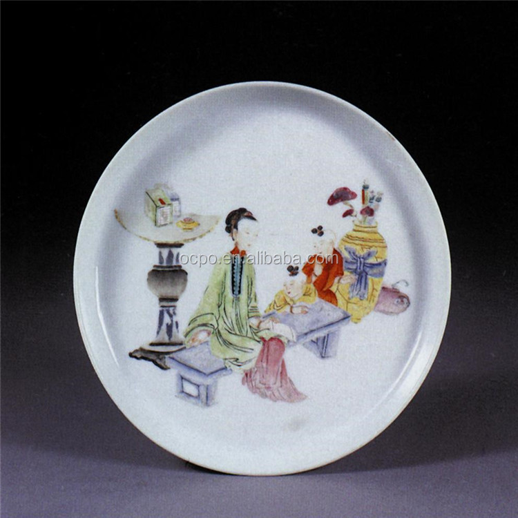 hot sale factory directly ceramic plate, porcelain plates, printing ceramic soup plates dishes(SGS BSCI cetificate)