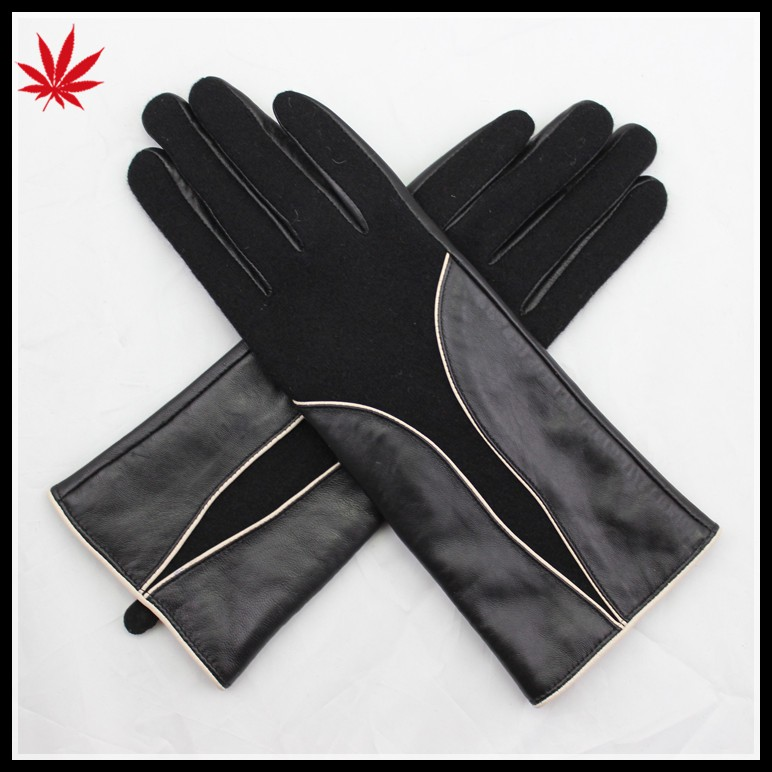 ladies kid leather gloves long leather opera gloves