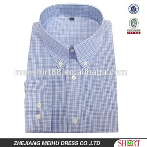 fashion original mens 100% cotton high quality gingham dress shirt