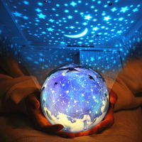 LED Romantic Sky Projector Christmas Night Light Cosmos Universe Starry Star and Moon Lamp for Baby Children USB Lamp Rotation