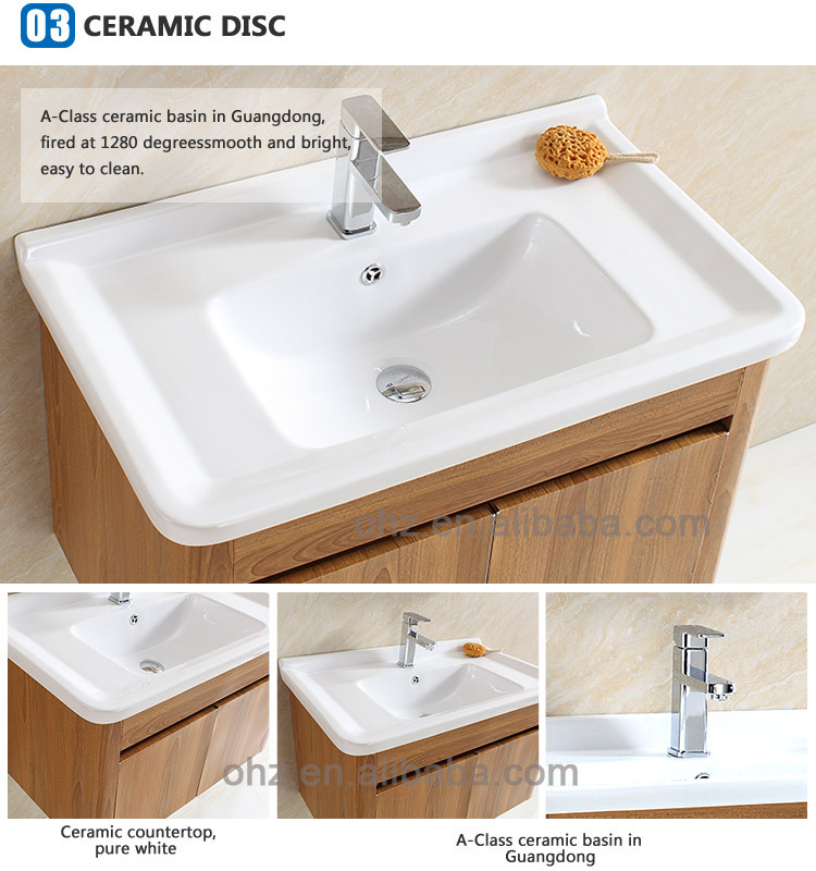Stainless Steel Hotel Bathroom Vanity Cabinet With Wooden Pattern Decorative T 093 Buy