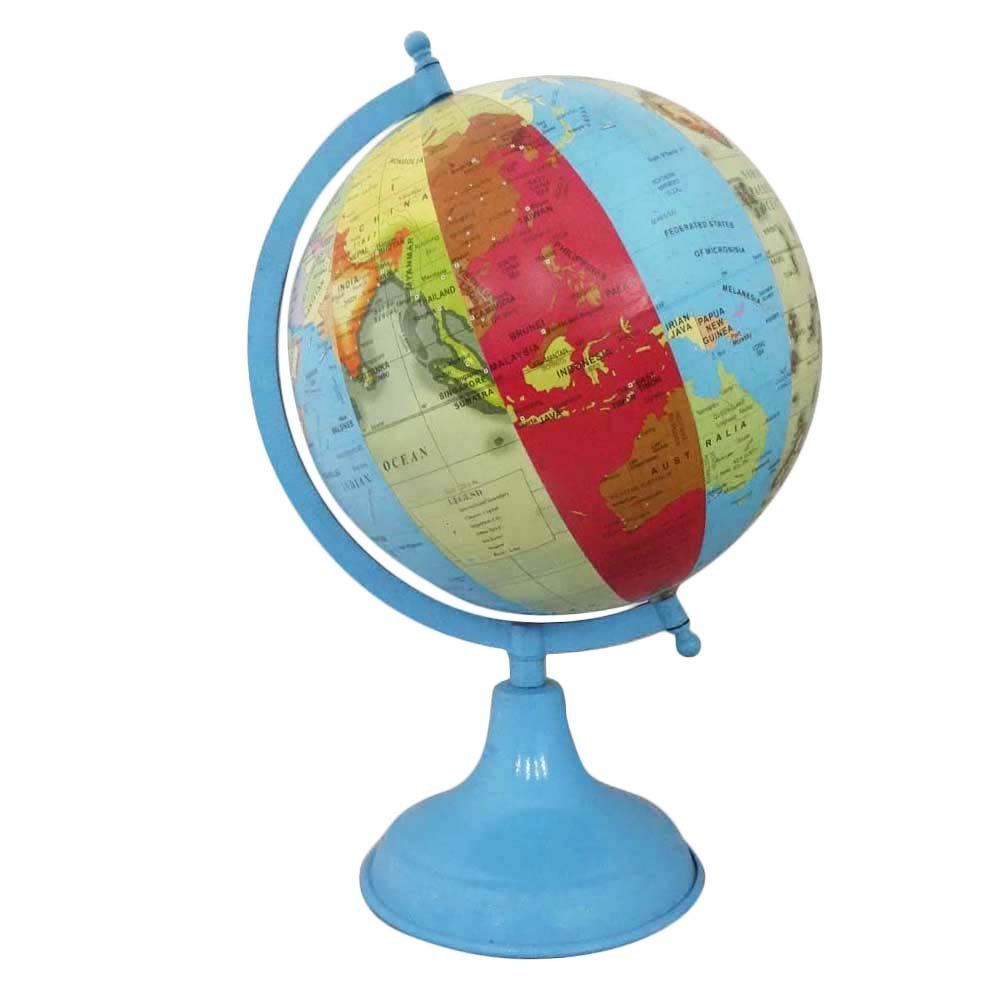 Buy antique blue globe indian home decor plastic ball handmade 8 handmade decorative home dcor vintage style globes table top antique globe blue 8 plastic ball gumiabroncs Images