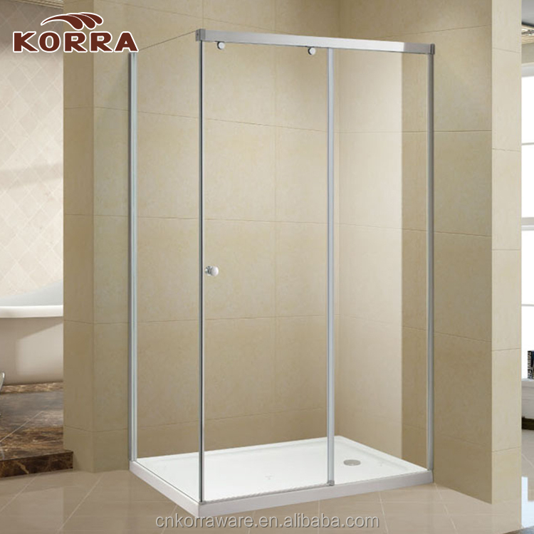 Simple square shape Small Shower Enclosure tempered glass complete Shower Room with Sliding Door